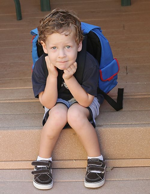 Sean's first day of preschool web