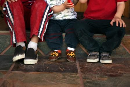 3 pairs on our front steps web